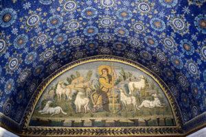 Gesù Cristo buon pastore Mausoleo di Galla Placidia di Ravenna